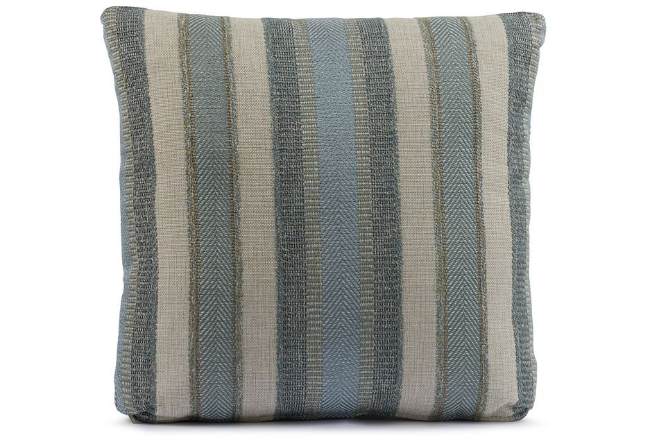 "Abode Green 18"" Square Accent Pillow"