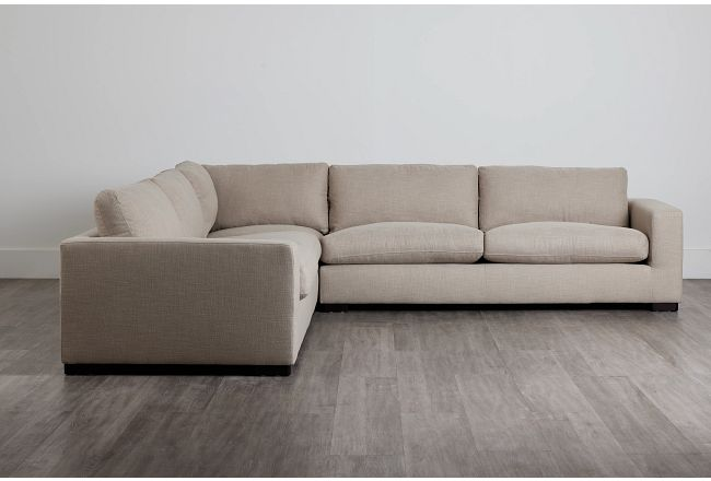 Bohan Pewter Fabric Large Two-arm Sectional
