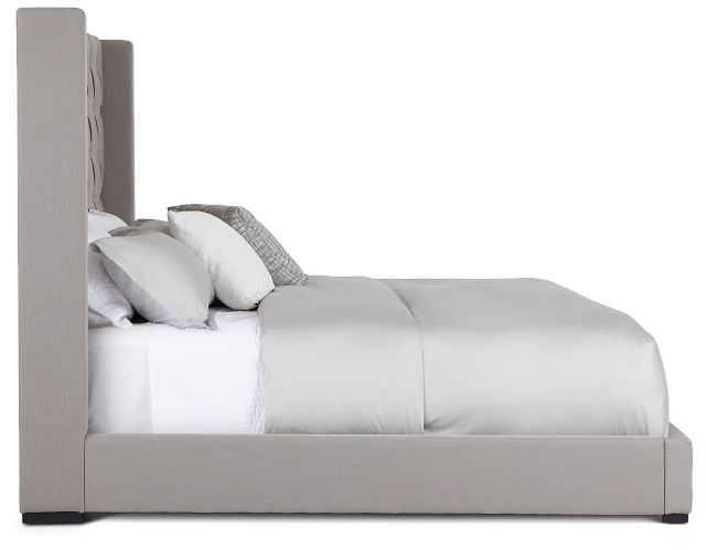 Lacey Gray Uph Platform Bed (3)