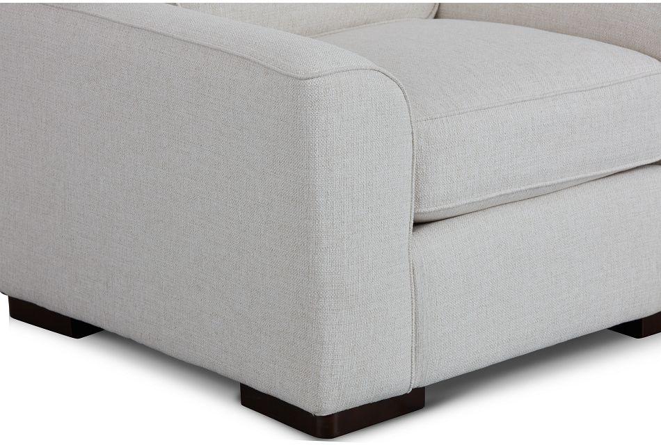 Austin White Fabric Chair