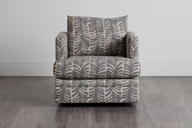 Bianca Gray Fabric Swivel Accent Chair (0)