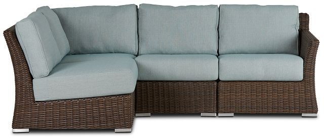Southport Teal Right 4-piece Modular Sectional (1)