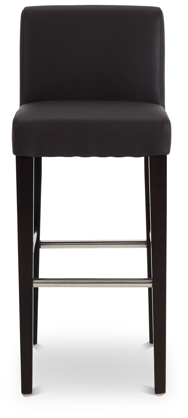 "Cane Dark Brown Micro 30"" Upholstered Barstool (3)"