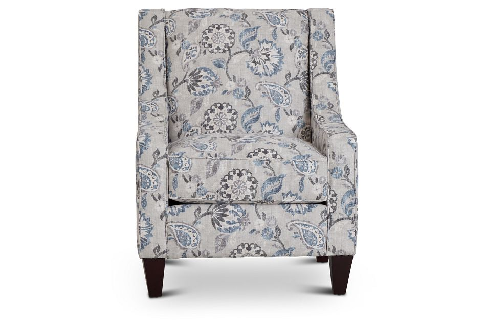 Sylvie Blue Floral Accent Chair,  (3)