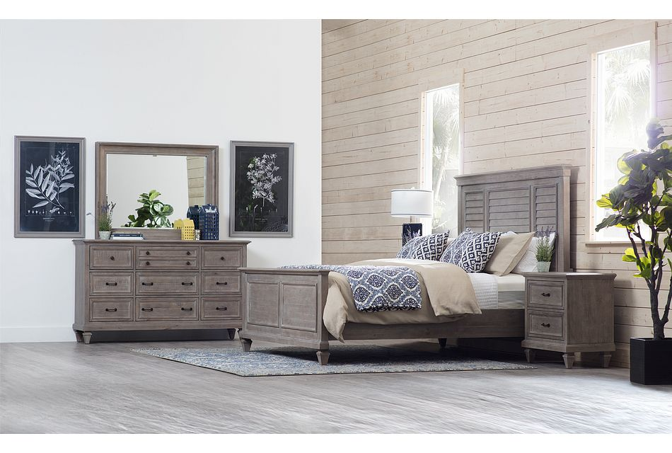 Sonoma Light Tone Panel Bedroom