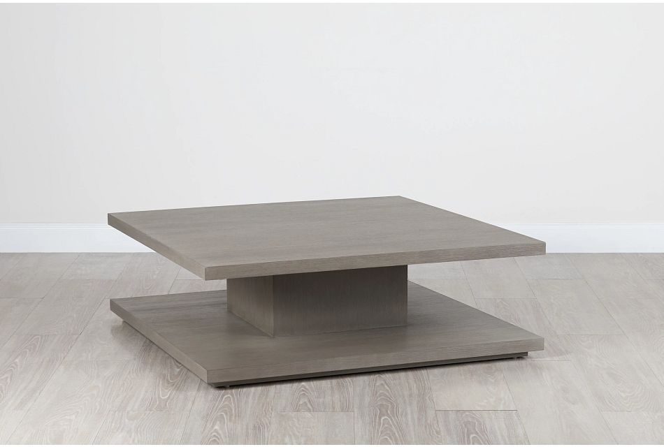 "Nixon Light Tone 48"" Square Coffee Table"