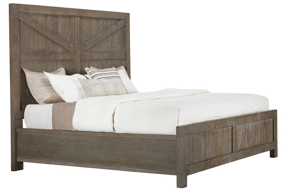 Taryn Gray Panel Bed