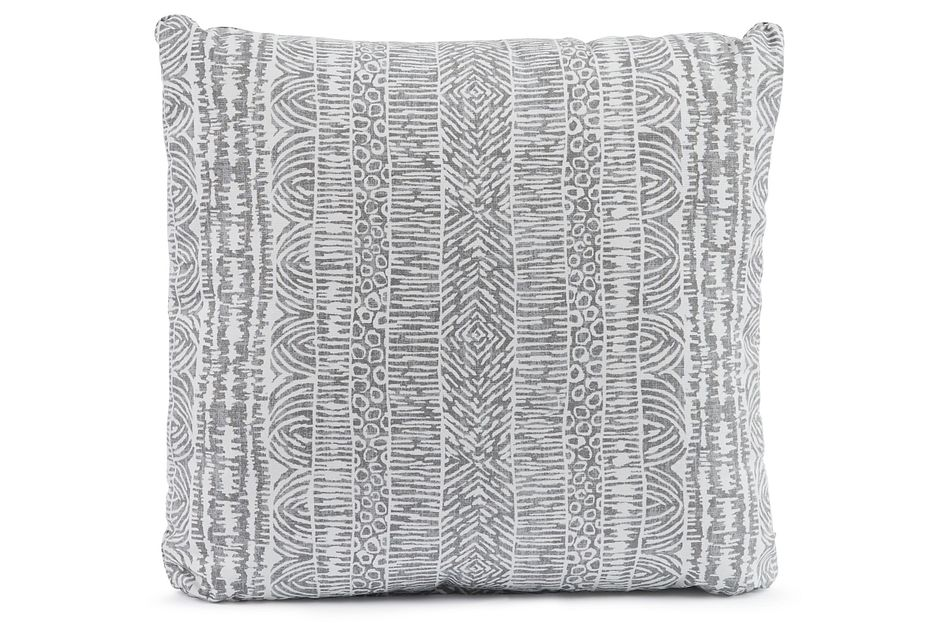 """Global Gray 18"""" Square Accent Pillow"""