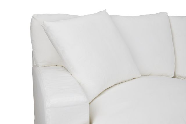 Delilah White Fabric Small Two-arm Sectional (0)