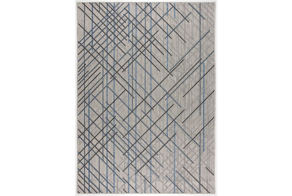 Rustica Dark Gray Indoor/outdoor 8x11 Area Rug