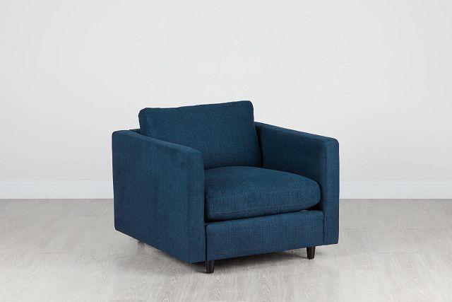 Simone Dark Blue Fabric Chair (0)