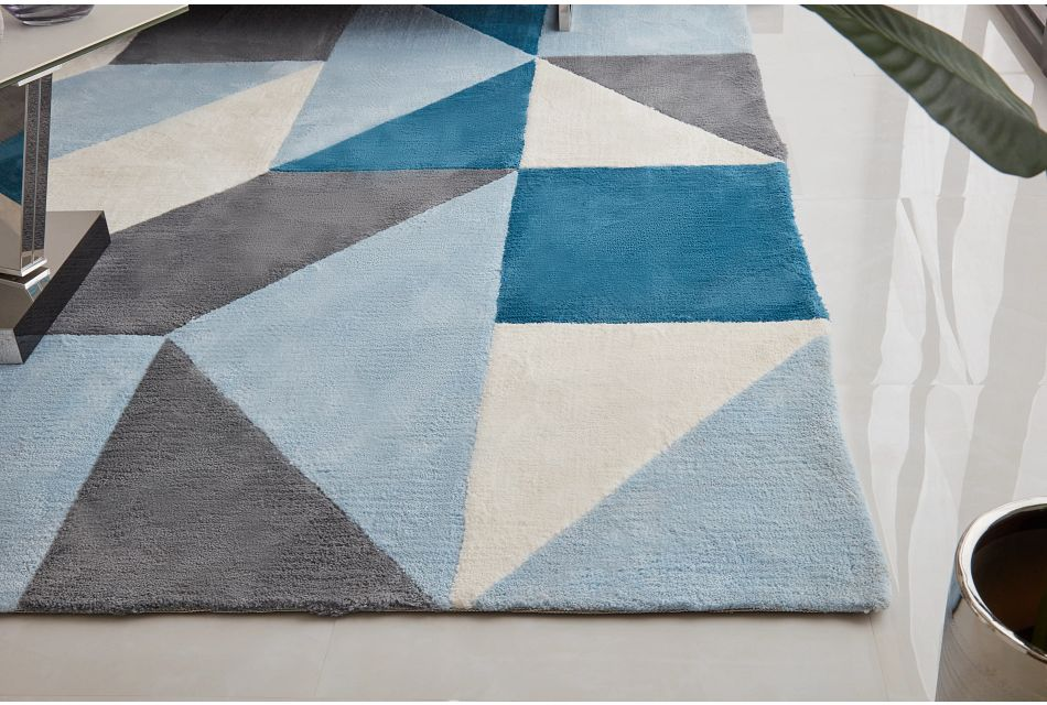 Escada Blue 8x10 Area Rug