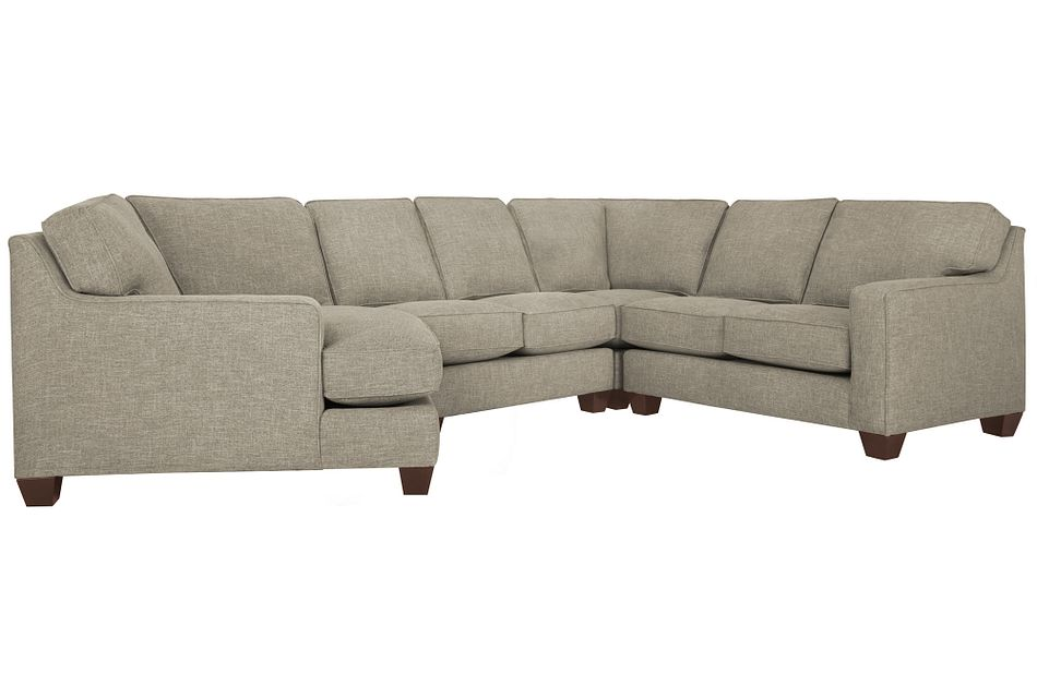 York PEWTER FABRIC Small Left Cuddler Sectional,  (1)
