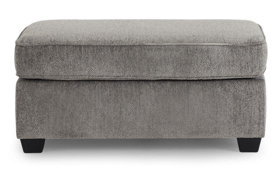 Bianca Gray Fabric Ottoman,  (3)