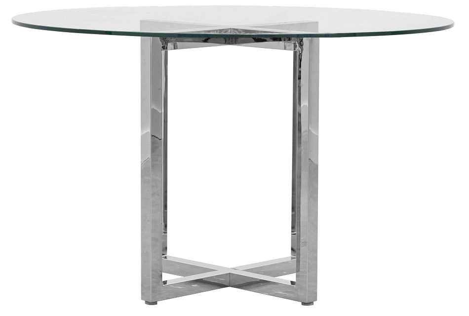Amalfi Glass Round High Dining Table
