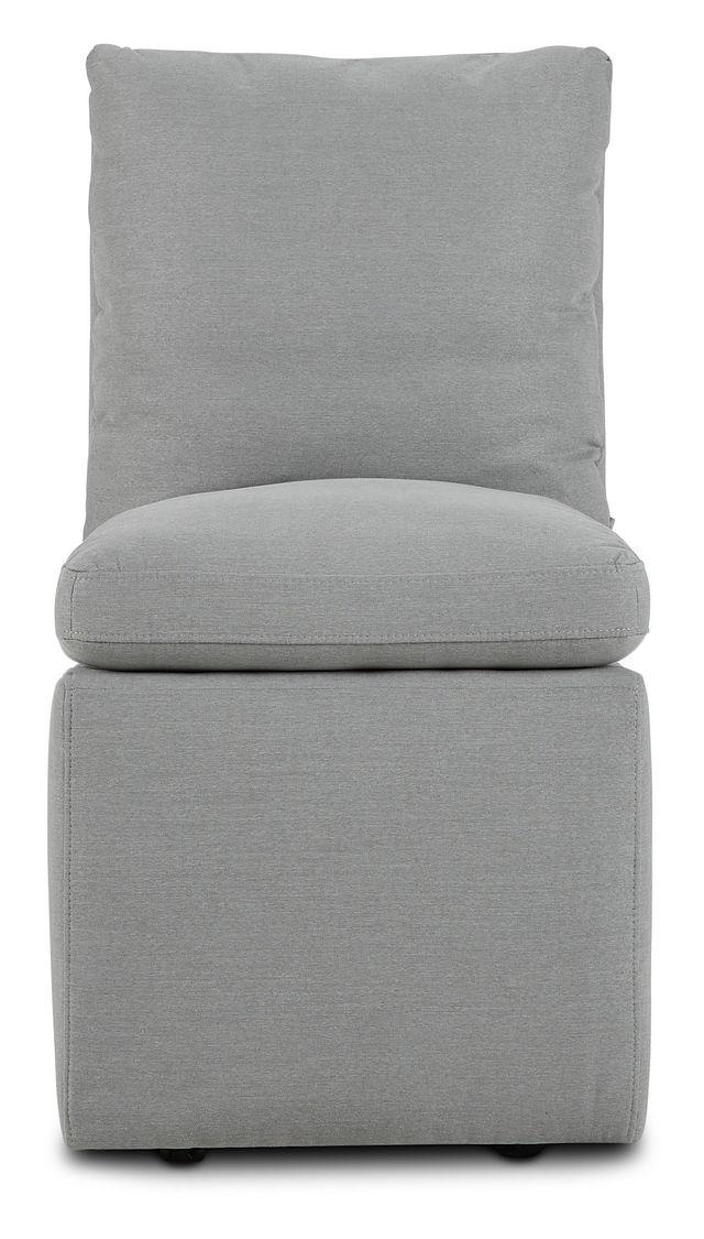 Auden Light Gray Castored Upholstered Side Chair (3)