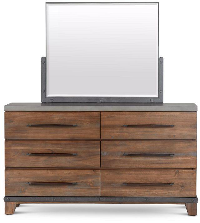 Forge Dark Tone Dresser & Mirror (1)