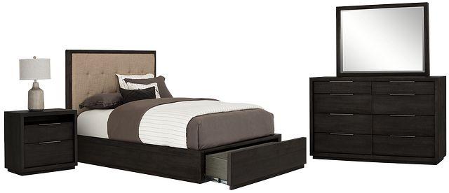 Madden Dark Tone Platform Storage Bedroom (1)