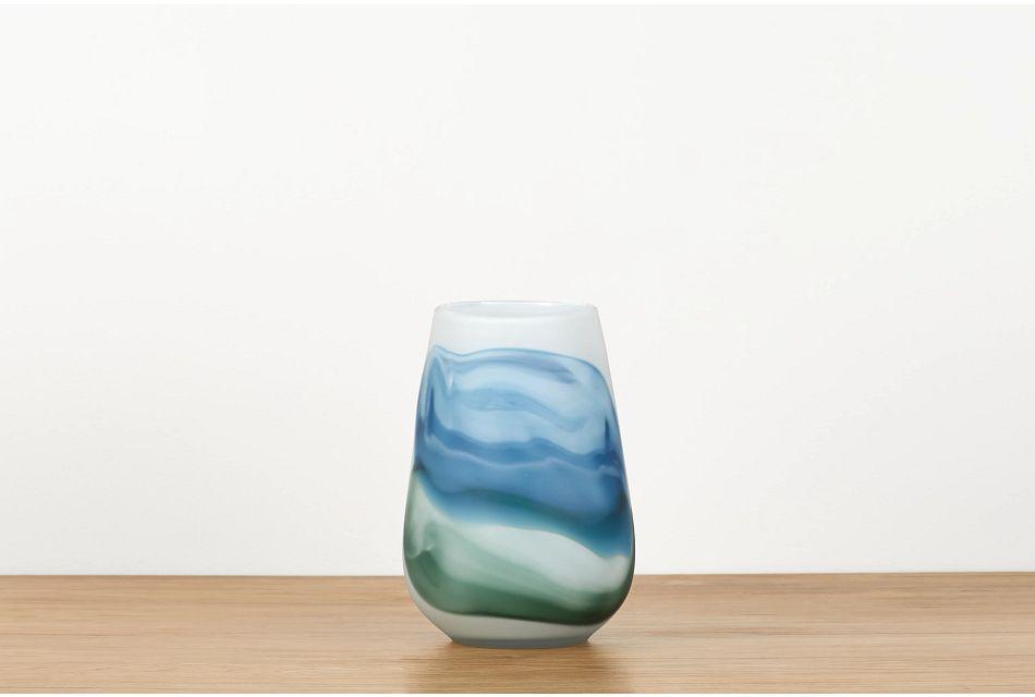Lucas Blue Vase