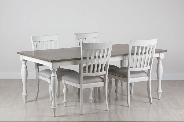 Grand Bay Two-tone Wood Table & 4 Upholstered Chairs (0)