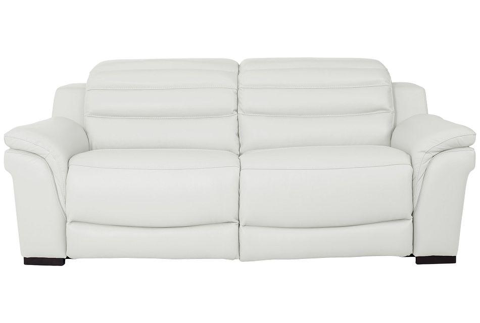 Sentinel White Lthr/vinyl Power Reclining Sofa