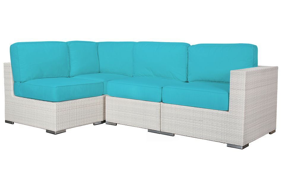 Biscayne Dark Teal 4-piece Modular Sectional