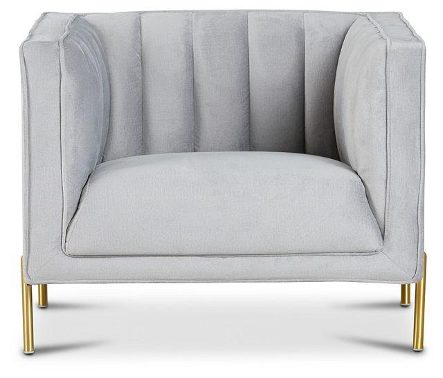 Bella Gray Velvet Chair (3)