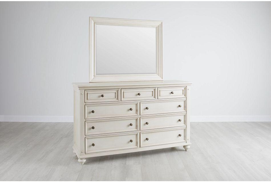 Savannah Ivory Dresser & Mirror,  (0)