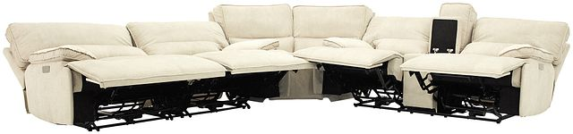 Jesse Light Beige Micro Two-arm Power Reclining Sectional (1)