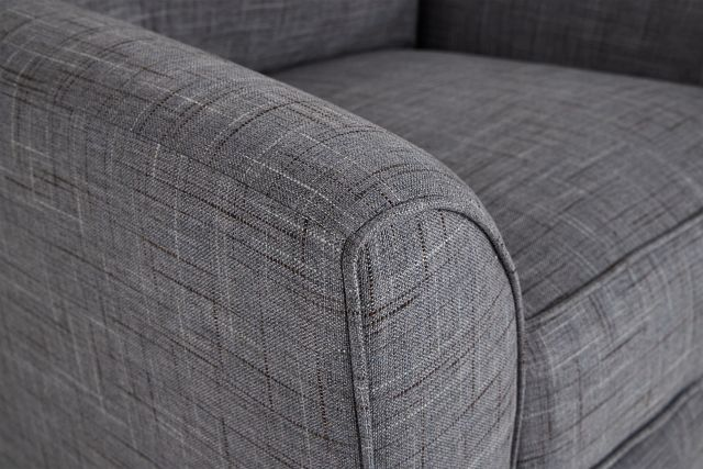 Charlie Gray Fabric Swivel Accent Chair
