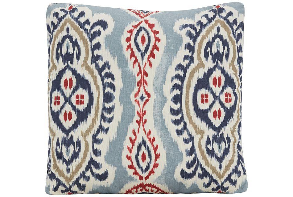 Bonita Red Fabric Square Accent Pillow