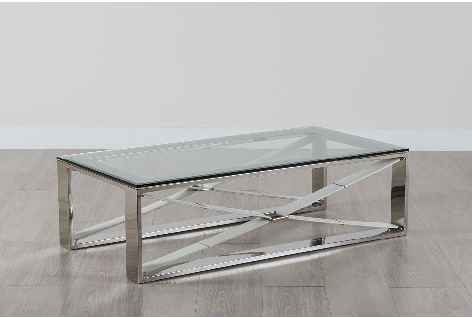 Mavis Glass Rectangular Coffee Table