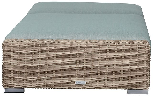 Raleigh Teal Woven Cushioned Chaise (3)
