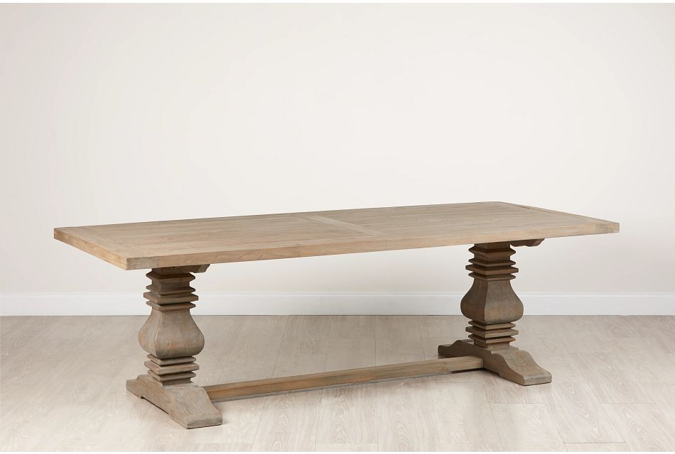 "Hadlow Gray 95"" Rectangular Table"