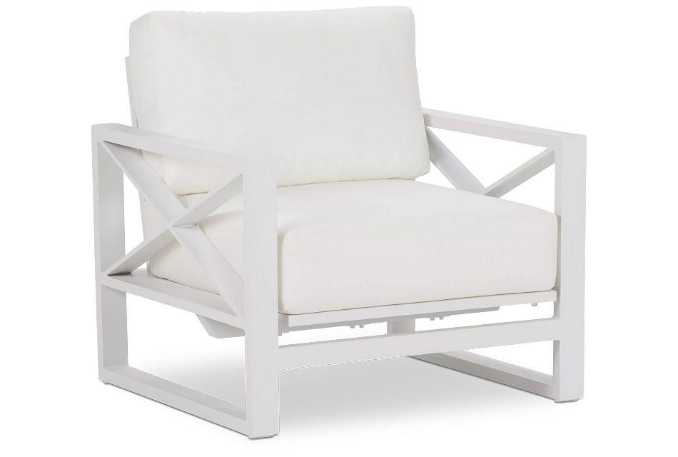 Linear White Rocking Chair