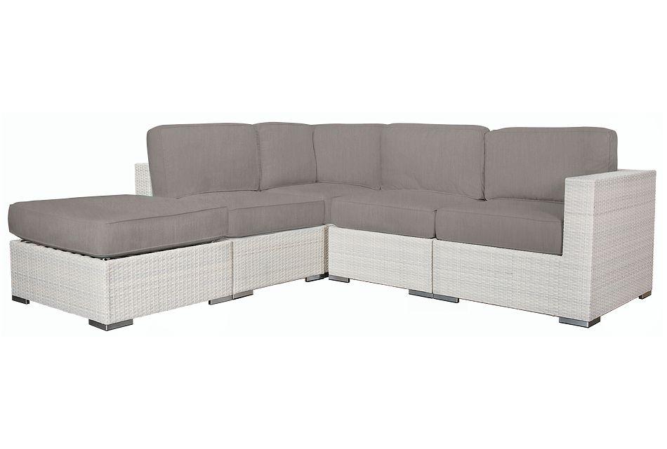 Biscayne Gray 5-piece Modular Sectional