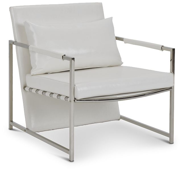 Russell White Uph Accent Chair (1)