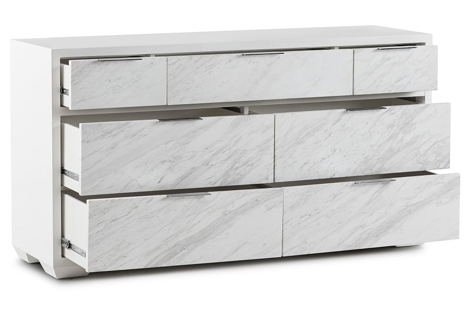 Ocean Drive White Marble Dresser