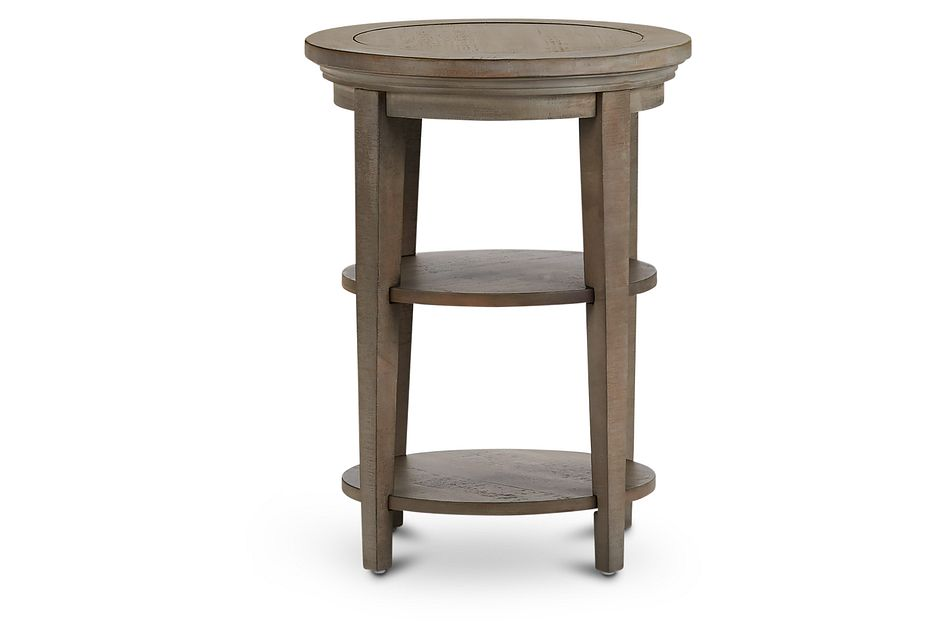Heron Cove Light Tone  Round End Table,  (1)