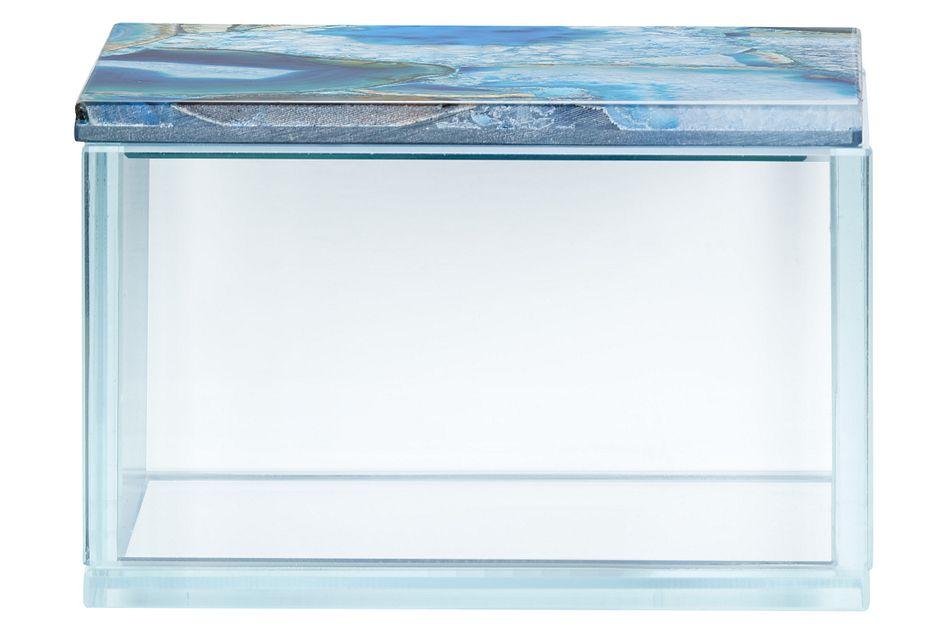 Agate Blue Glass Box