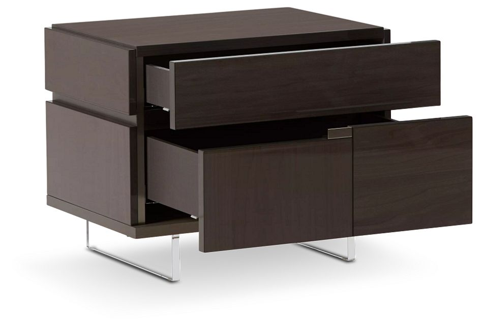 Athena Dark Gray Left Nightstand