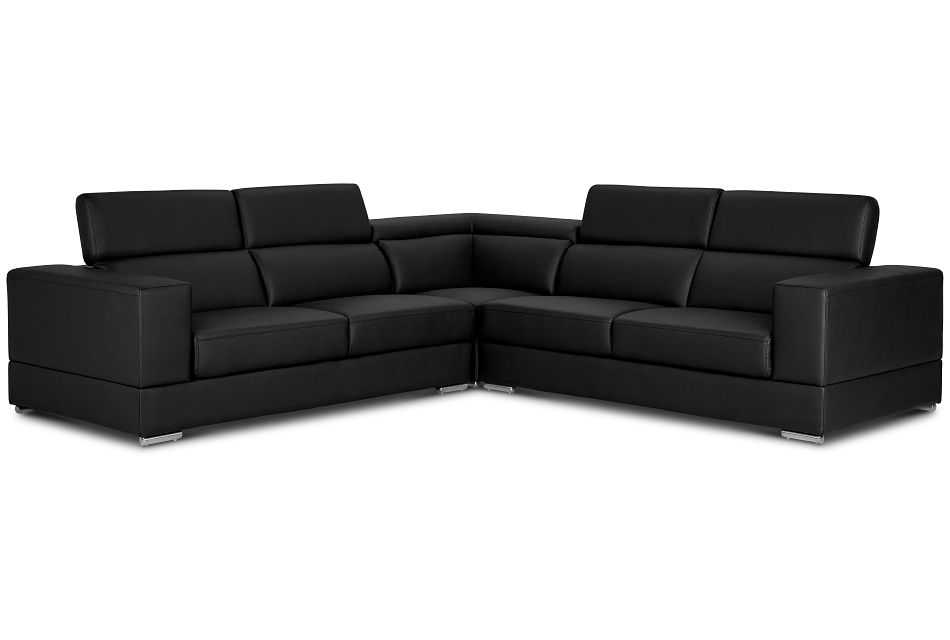 Maxwell Black Micro Two-arm Sectional