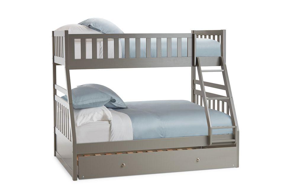 Oakley Gray Trundle Bunk Bed