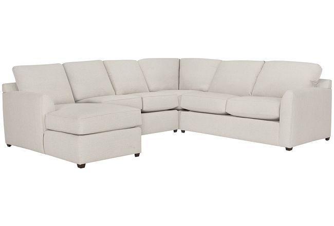 Asheville Light Taupe Fabric Medium Left Chaise Sectional