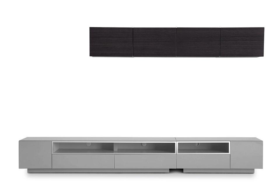 "Vancouver 134"" Gray Dark Tone 6-piece Right Modular Entertainment Wall"