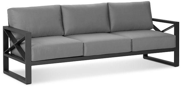 Linear Dark Gray Aluminum Sofa (1)