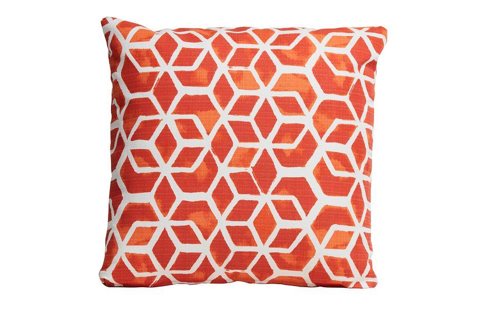 """Celtic Orange 18"""" Indoor/outdoor Accent Pillow"""