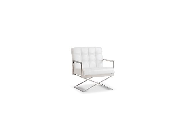 Stark White Uph Accent Chair (1)