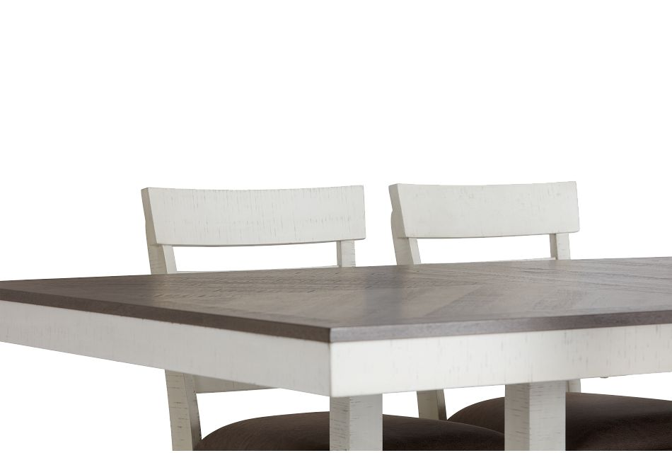 Huntsville Two-tone Rect High Table & 4 Barstools
