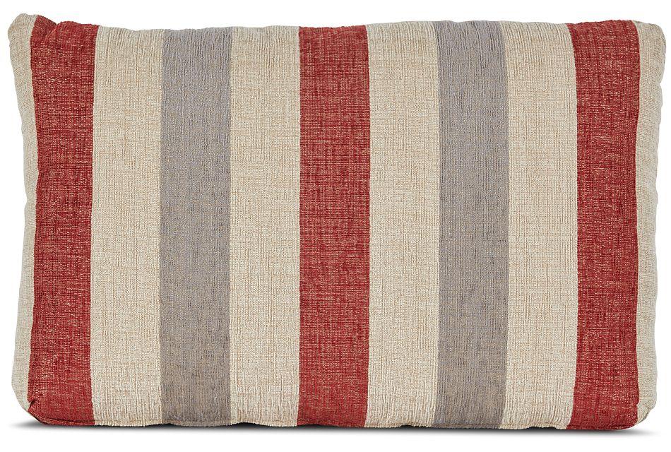 Snapback Red Lumbar Accent Pillow